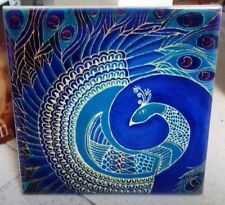 Indian Peacock old blue intricate and beautiful painting,decorative CERAMIC TILE