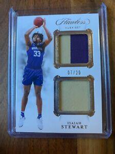 A55,752 - 2020-21 Panini Flawless Collegiate Dual Jersey #11 Isaiah Stewart/20