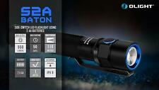 Olight S2A Baton CREE XM-L2 LED 550 Lumens Flashlight Torch AA Powered