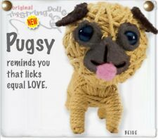 Kamibashi Pugsy Pug Puppie Dog The Original String Doll Gang Keychain Clip