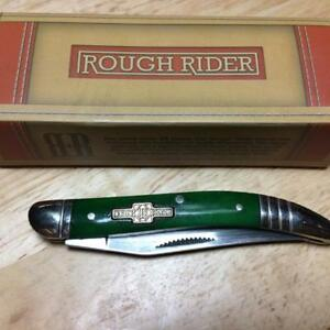 "Rough Rider Peacock Green Bone Texas Toothpick 3"" Pocket Knife  RR062"
