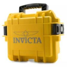 New Invicta 3 Slot Impact Yellow Dive Storage Collector Water Resistant Case