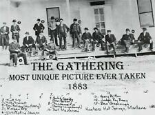 "OLD WEST 1883 The Gathering Wyatt Earp Butch Cassidy NOVELTY POSTER 11"" x 17"""