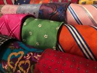 Lot 60 Silk Mens Neckties Wear Quilting Art Cutter Wholesale Tie Lots