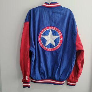 Rare Vintage 90s Starter Diamond Texas Rangers Lightweight Varsity Jacket Men XL