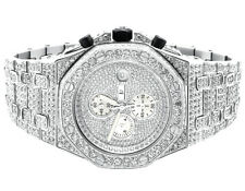 Iced Mens Jewelry Unlimited Jojino Joe Rodeo Lab Diamond Chronograph Watch 43MM