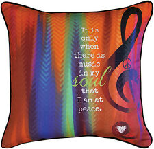 """DECORATIVE PILLOWS - """"MUSIC IN MY SOUL"""" PILLOW - 18"""" SQUARE"""