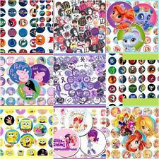 250 Precut assorted BOTTLE CAP IMAGES Variety 1 inch Children or your PICK