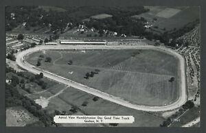 Goshen NY: 1940s DEXTER Postcard Original Photo Hambletonian Day Good Time Track