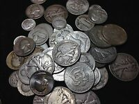 1 TROY OZ. 90% United States Silver Coin Collection Of HALVES QUARTERS AND DIMES