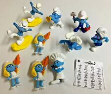 The Smurfs McDonalds Happy Meal Toys Lot of 10 from  2011 & 2013
