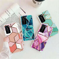 Case For Huawei P40 P30 P20 Pro P Smart Z ShockProof Marble Phone Cover Silicone