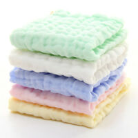 Natural Muslin Cotton Baby Wipes Soft Newborn Towel Washcloth Sensitive Skin OW