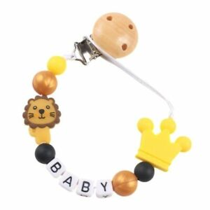 Nipples Holders Personalized Name Baby Pacifier Clips Chain Silicone Bead Strap