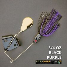 Buzzbait CHOPPER 3/4 oz BLACK PURPLE buzz bait buzzbaits. KVD trailer hook