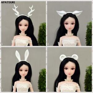 "White Animal Ear Headband Headwear Tiara For 11.5"" Doll Accessories Hairwear 1/6"
