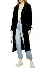 NWT Topshop Belted Duster Coat Black Size 2 S-M SOLD OUT