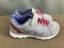 BNWT Girls Sz 1 Rivers Doghouse Grey purple pink Tab Athletic Jogger Shoes