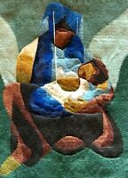 """Belle tapisserie laine de type Aubusson, Toffoli """"Maternité"""""""