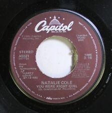 Soul Nm! 45 Natalie Cole - You Were Right Girl / Across The Nation On Capitol