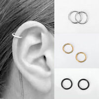 Stainless Steel Piercing Hoop Earring Helix Nose Ear Cartilage Cool Deco S7A8
