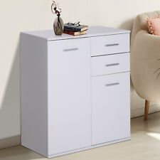 Free Standing Storage Cabinet Console Utility Table Living Room Entryway