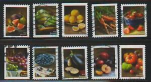 Fruits & Veggies, 2020, Sc 5484-5493, set of 10, used and off paper