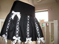 Gothic Black Lace Skirt White red purple cotton Lolita Rock Alternative Party UK