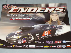 2012 ERICA ENDERS GK MOTORSPORTS CHEVY COBALT PRO STOCK NHRA POSTCARD