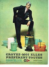 PUBLICITE ADVERTISING 034   1960    PLASTIQUES   GROSFILLEX