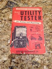 vtg superior instrunents co. operating instructions for model70 utility tester