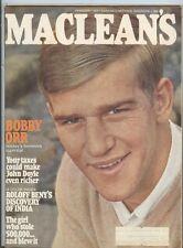 Bobby Orr Boston Bruins Macleans Magazine 1969 Mt-Ex
