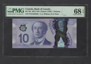 Canada 10 Dollars 2013 BC-70c Uncirculated Graded 68
