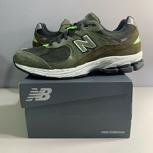 New Balance Running Shoes Olive Camo Green ML2002RG Kith 2002 Men Size Brand new