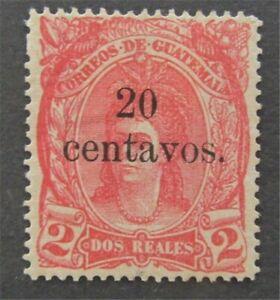 nystamps Guatemala Stamp # 20 Mint OG H $33   L30y446