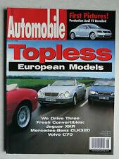 Automobile Magazine 8/1998 Jaguar XKR, Volvo C 70 Convertible, MB CLK 320 Cabrio