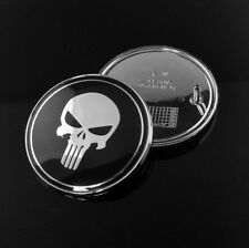 2PC 82mm Skull The Punisher Hood Front Emblem for E36 E46 Replacement Logo