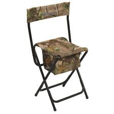 Ameristep High Back Hunting Chair w Bag Pouch Realtree Xtra Camo Green Folding