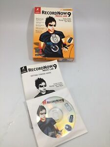 Roxio RecordNow Music Lab 9 - PC Computer Software COMPLETE in Box w/CD-Key!