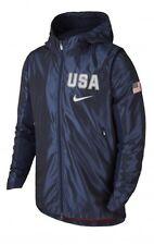 NIKE USA REVOLUTION HOODED Men's Jacket Size LARGE 802020-451