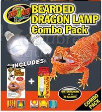 Bearded Dragon 10UVB PC B Bual & 75W Heat Basking Lamp Combo Pack Zoo Med