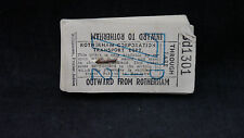 Sequential Block of Rotherham Corporation Transport 7 1/2d Bus /Trams Tickets