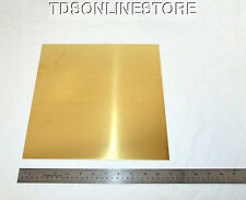 "Yellow Brass Sheet 26ga 12"" x 12"" 0.41mm Thick"