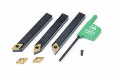 Conjunto de 3 herramientas de torneado de torno para Emco Compacto 5 torno
