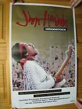 Jimi Hendrix Poster Woodstock Promo Huge