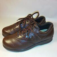 NICE Women's SAS Free Time Comfort Walking Shoes-Brown Leather-USA MADE-9 M
