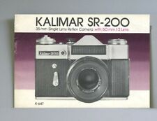 Kalimar Sr-200 Instruction Manual original