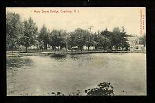 Cranbury, New Jersey NJ Vintage postcard Main Street Bridge