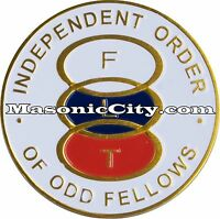 A-334 IOOF Independent Order of Odd Fellows Auto Emblem Car Lodge