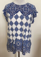 WOMENS WAREHOUSE BLUE SUMMER TUNIC TOP SIZE 12